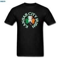 GILDAN Kansas City Irish Shamrock Flag Apparel St Pat S Men S T Shirt Shirt Hipster