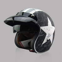 New Arrival Brand TORC T57 Vintage Motorcycle Helmet Scooter Open Face Helmet Captain America 3 4