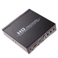 Nueva llegada scart/hdmi a hdmi adaptador 720 p 1080 p hd video converter caja con fuente de alimentación para hdtv stb dvd