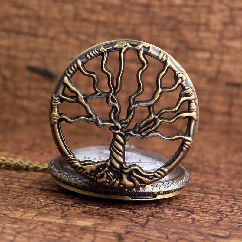 LIFE TREE Vintage Lommeur Fashion Bronze Tree Of Life Kvarts Lommeur - Lommeur - Foto 3