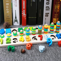Children Montessori Math Toys Digital Shape Pairing Learning Preschool Counting Board Kids Educational Wooden Toys