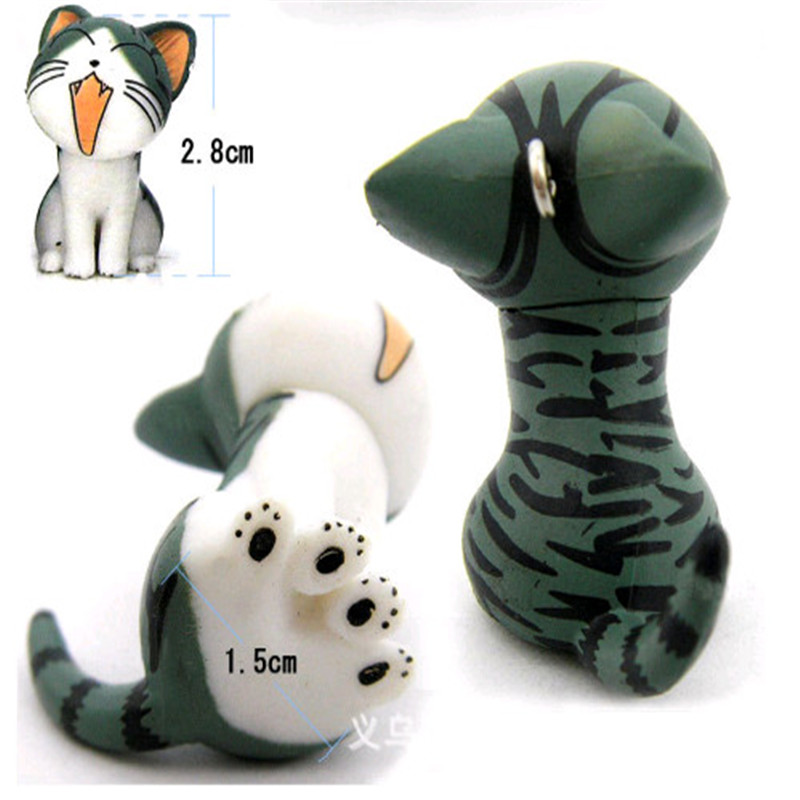 Squishy Cat Accessory : HEY FUNNY 3piece Kawaii Squishy Trinket Cell Phone Accessories a Full Range Of Sweet Home Cat ...