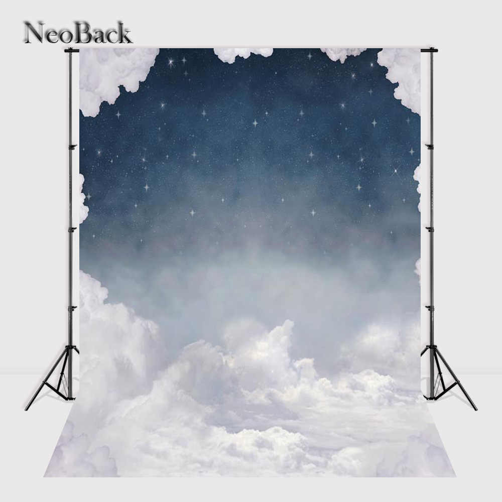 NeoBack 5x7ft Vinile Panno Photo Sfondi Computer Stampato Bambini bambini Star Night View Photo Studio Fondali P0764