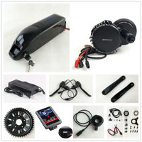 48V 1000W BafangBBSHD BBS03 8Fun mid drive Motor Kit with Sanyo GA cell 52V 14Ah Li ion Dolphin E Bike Battery