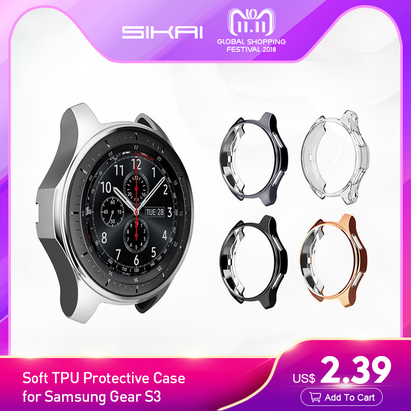 Watch Case for Samsung Gear S3 frontier Soft TPU plated All-Around Protective Shell Replacement Cover for Samsung smart Watch женское бикини colloyes 2015 zcbk1405