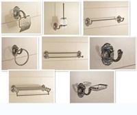 Brass Bathroom Accessories Set, bronze art carved Toilet Brush Holder,Paper Holder,Towel Bar,Towel Holder bathroom Hardware set