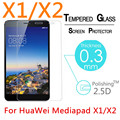 """5pcs 9H 0.3mm Explosion-Proof Toughened Tempered Glass For HuaWei Honor Mediapad X1/X2 7"""" Film Clear Screen Protect Cover Guard"""