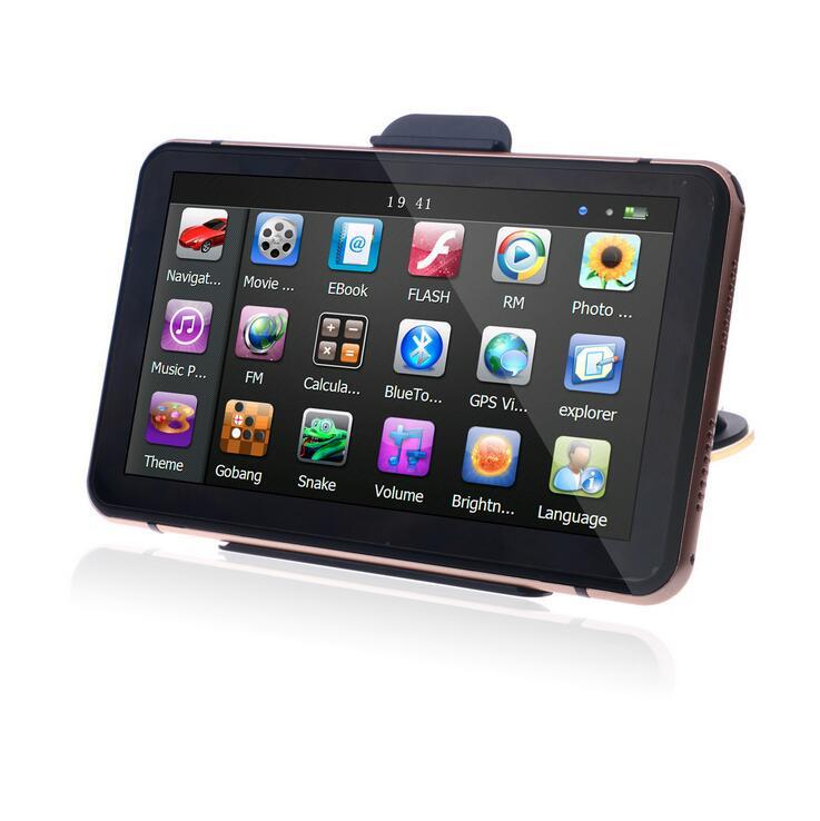 7 inch HD Car GPS Navigation FM 8GB 128M DDR Map Free Upgrade Navitel Europe Sat nav Truck GPS Navigators Automobile (1)