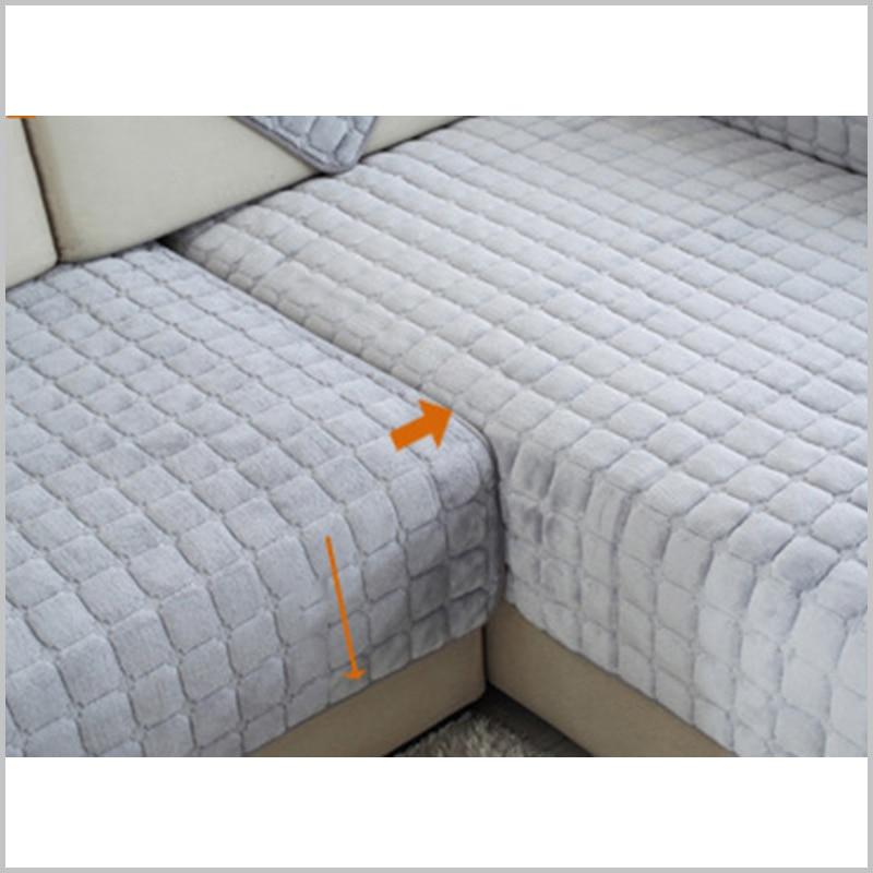 Thick Flannel sofa Cushion Europe Modern Sofa Cover Fashion Plush ...