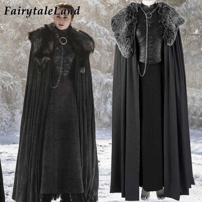 Sansa Stark Costume Halloween Cosplay Outfit Game of Thrones Season 8 Costume Custom made Winterfell Sansa