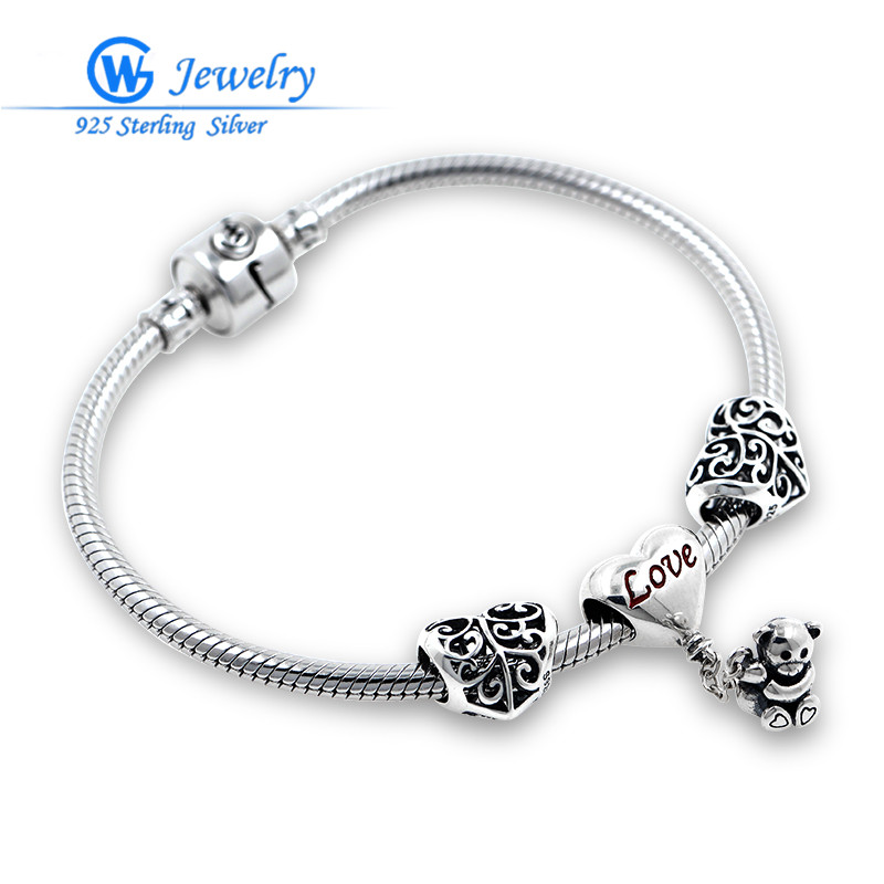 GW Brand Love Teddy Fits Love and Wish Bracelet For Women Fashion Jewelry BRS276 брелок gw jewelry