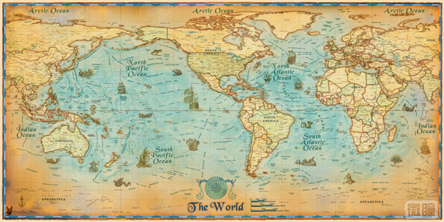 Big hd antique stores recommend super clear modern english retro big hd antique stores recommend super clear modern english retro sailing world map posters wall decoration gumiabroncs Choice Image