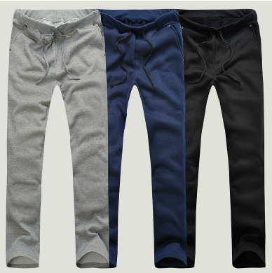 Mens Casual Pants 2017 Spring&Autumn Mens Cheap Sweatpants 3Colors M~XXL Plus Size Casual Straight Tracksuit Trousers Pants