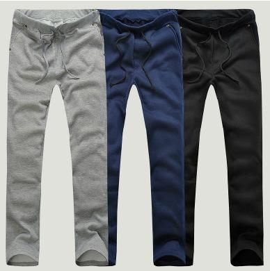 Pantalones casuales para hombre 2016 primavera y otoño barato chándal 3 colores M ~ XXL más tamaño ocasionales rectos pantalones de chándal pantalones