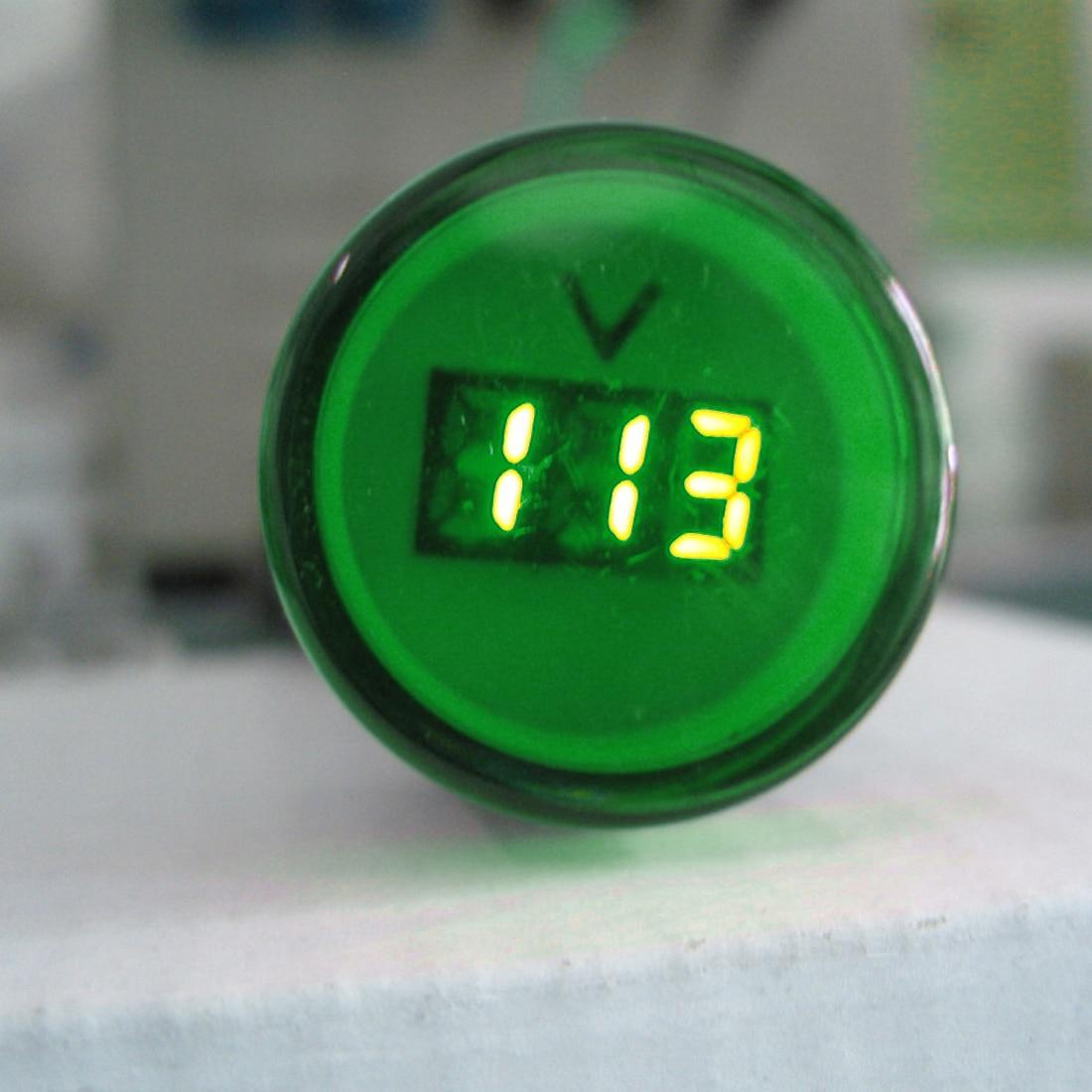 LED Voltmeter 1PC 22MM AC 60-500V Voltage Meter Indicator Pilot Light digital ammeter ammeter Red Yellow Green