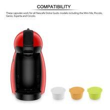 3 шт. фильтры для кофе dolce-gusto для многоразового использования кофейные капсулы пластиковые корзины Набор колпачков ложка Фильтр мягкий сладкий вкус