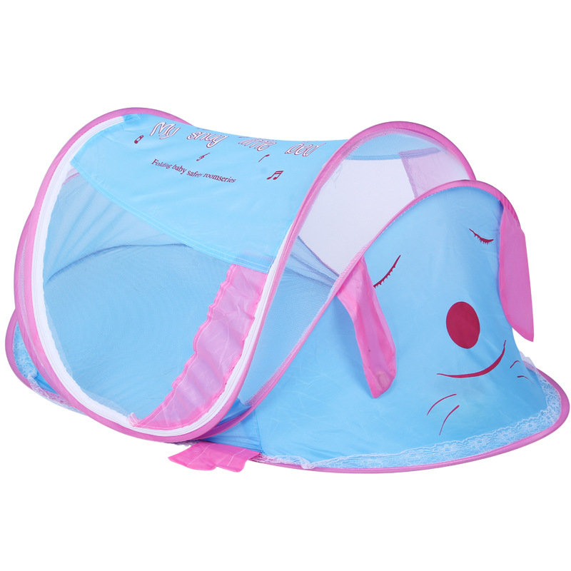 Cute Dog Shape Baby Bed Mosquito Net Portable Baby Bed Canopy Infant Mosquito Nets Fold Baby Crib Netting Tent tenda infantil 3pcs set pink baby bedding crib netting folding baby music mosquito nets bed mattress pillow baby crib for baby bed accessories