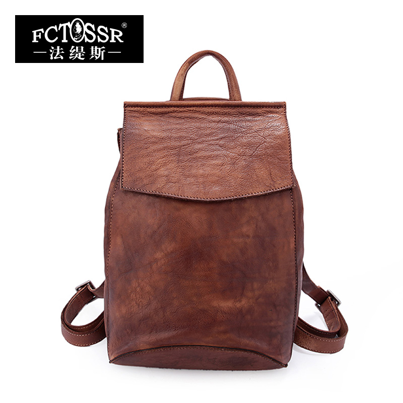 2018 Autumn Vintage Genuine Leather Backpack British Art Van Leisure Bags Original Manual Wind Cowhide Bag Travel свитшот print bar metal is the new black