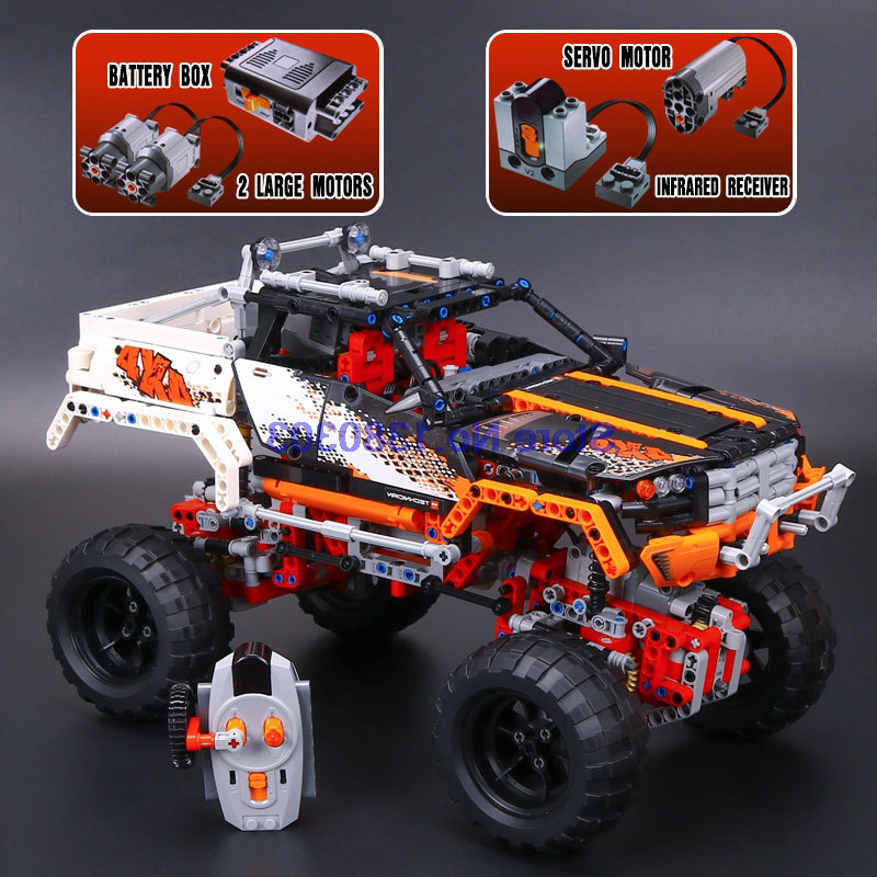 lepin 20014 9398 technic 4x4 crawler building blocks with electric motors power functions model. Black Bedroom Furniture Sets. Home Design Ideas