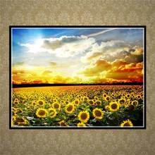 5D DIY Diamond Painting Landscape Sunflower Star Diamond Cross Stitch Crystal Diamond Mosaic
