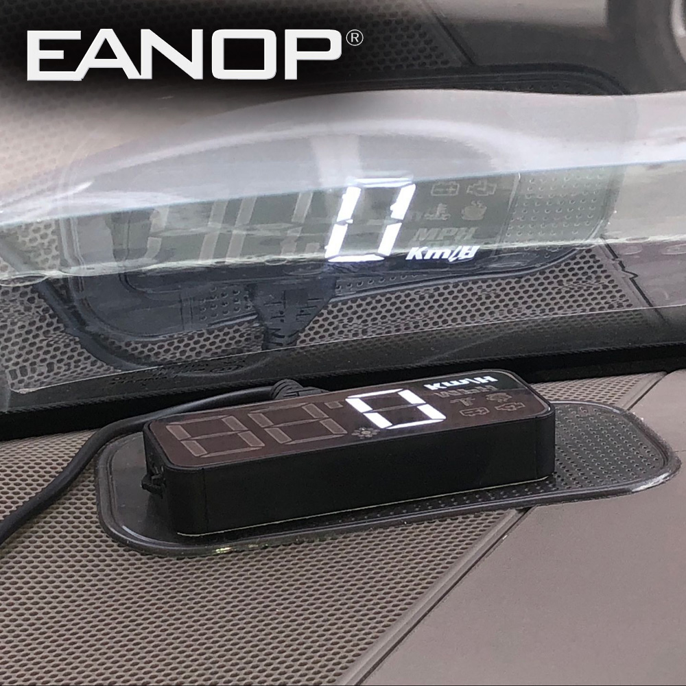 EANOP S-Mini Car Hud Obd Head-up Display Speed Projector OBD2 Speedometer Windshield Sensor Estacionamento