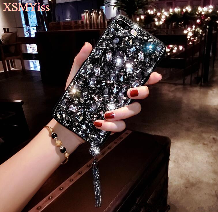 For Huawei P8 P9 P10 P20 Lite Plus Mate 7 8 9 10 Pro Luxury Glitter Back Cover Crystal Bling Diamond rhinestone Phone case