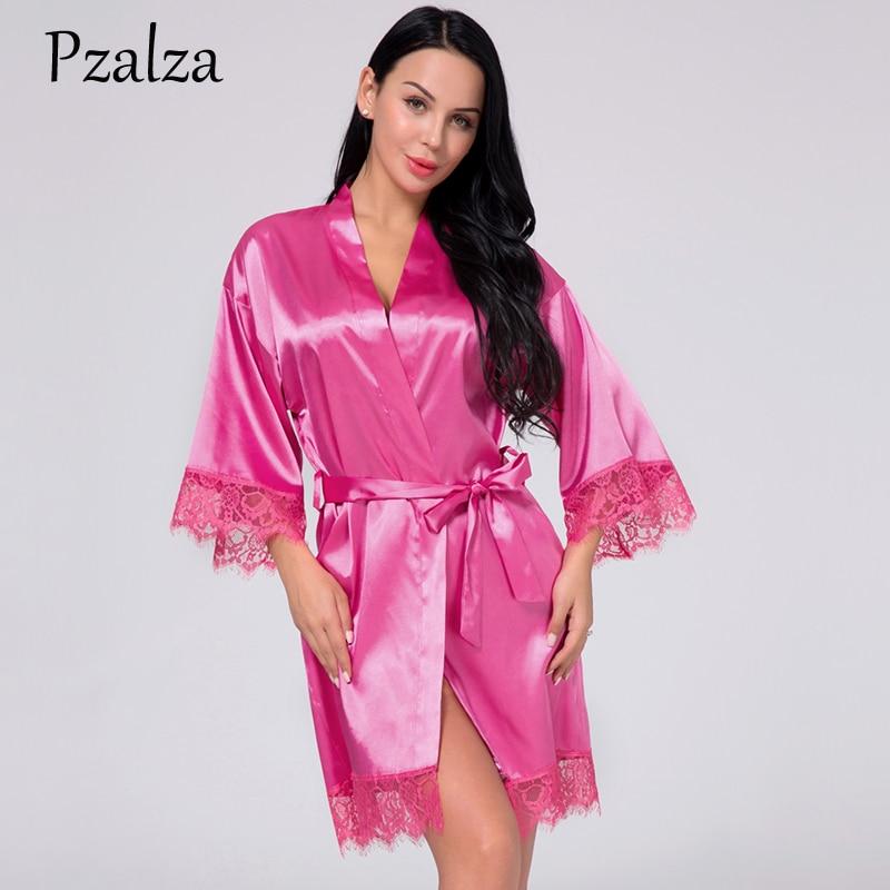 Summer Silk Robes For Women Sexy Lace Satin Robes Femme Plus Size XXXL Bath Robe Dressing Gown Night Sleepwear Robe Best Quality