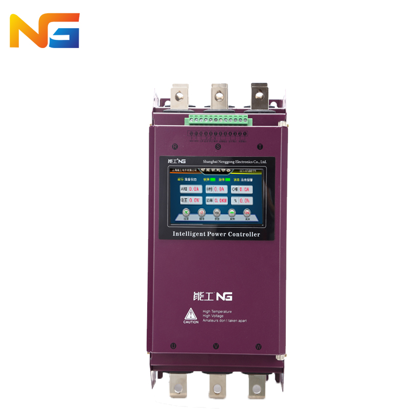 Color screen 11 kw three-phase motor soft starter crusher motor pump fan intelligent soft start control cabinet nenggong