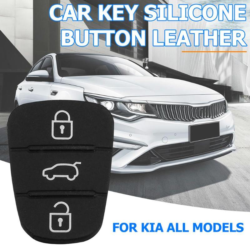 New Replacement Rubber Pad 3 Buttons Flip Car Remote Key Shell For Hyundai I30 IX35 Kia K2 K5 Key Cover Case