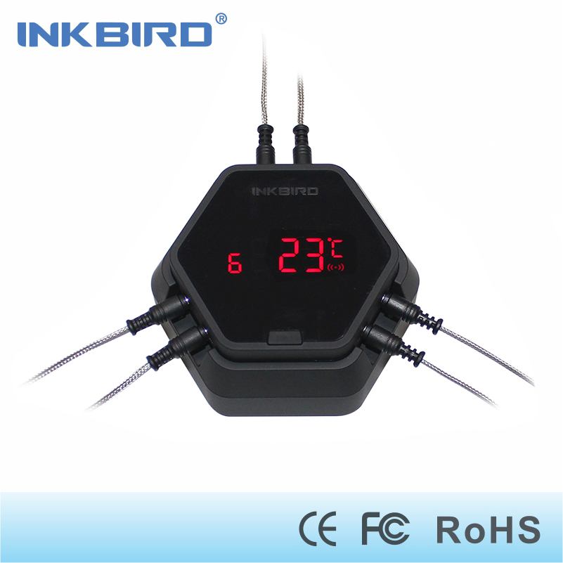Inkbird IBT-6X Grilling food cooking Wireless Bluetooth BBQ Digital Thermometer for oven meat 6 sensors and free APP control цены