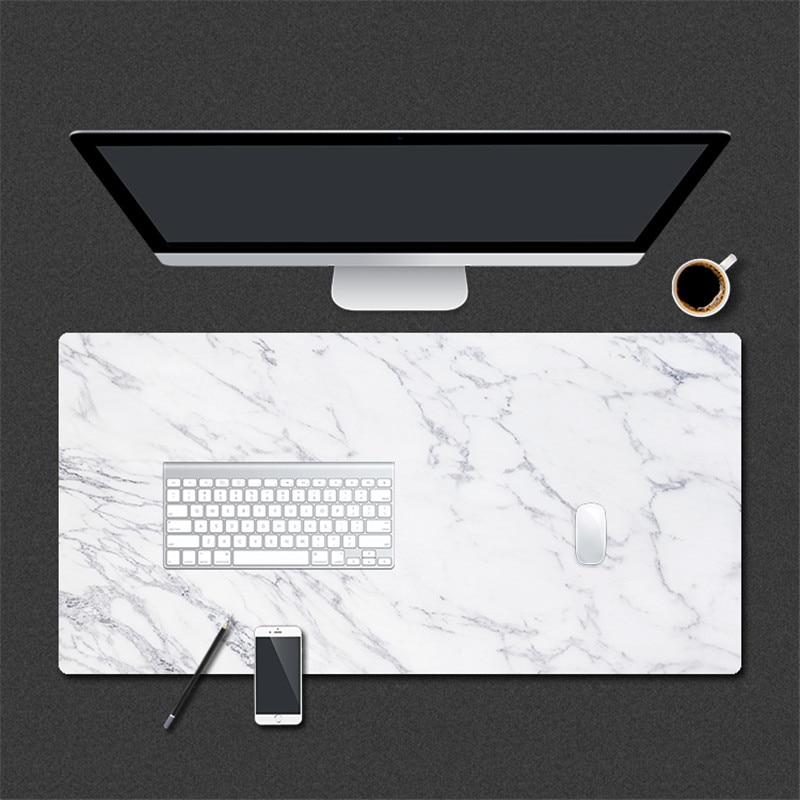 800*400mm Mármore Grão Couro Grande Mousepad Gaming Mouse Pad PU para Escritório Em Casa Mesa Do Computador Laptop Pad mat teclado Ratos