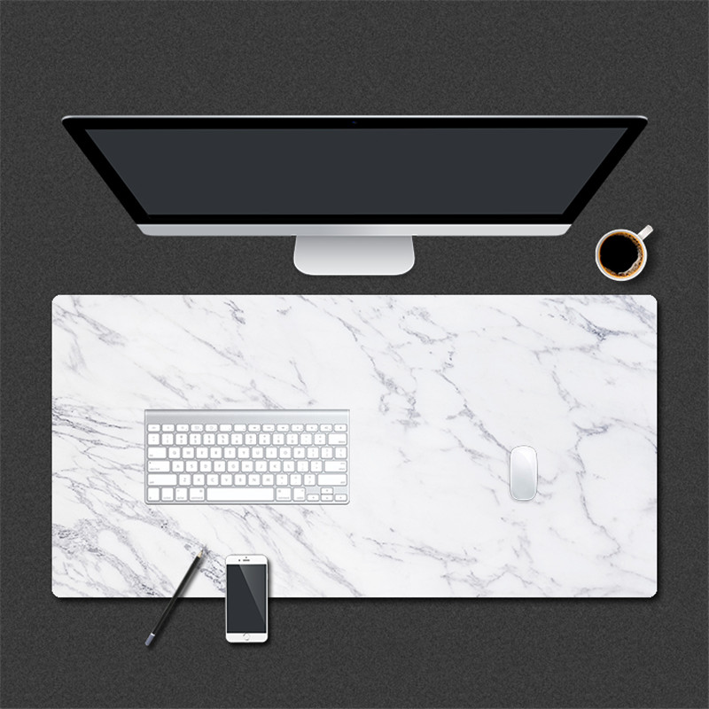 800 * 400mm Marble Grain Gaming Mouse Pad PU Leather Large Mousepad for Home Office Laptop Computer Desk Pad Keyboard Mat Mice