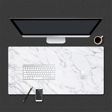 800 * 400mm Marble Grain Gaming Mouse Pad PU Leather Large Mousepad for Home Office Laptop Computer Desk Pad Keyboard Mat Mice 63 33 large soft felt cloth desktop mouse pad keyboard office laptop notebook pc table mat home office computer desk mousepad