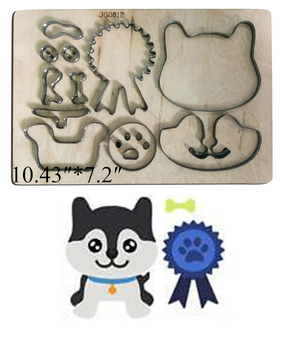 Médaille chien bois découpé moule accessoires pour cuir papier feutre acier poinçon-cuir artisanat bois laser découpe métal matrices