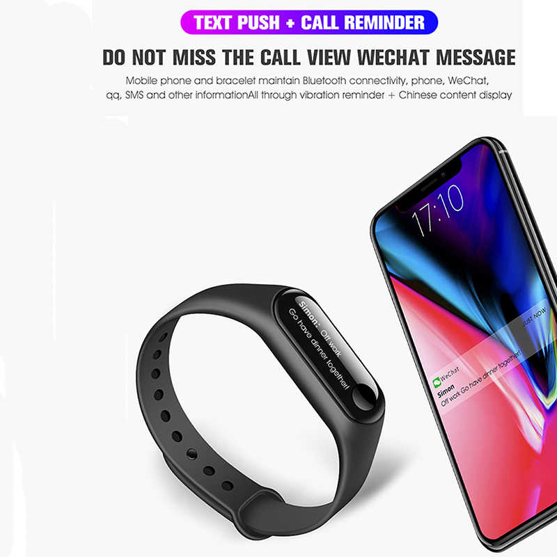 12921a3940 ... Volemer M3 Smart Band Blood Pressure Wristband Heart Rate Fitness  Tracker Bluetooth Smart Bracelet For iOS ...