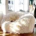 Atacado estilo de lã capas Sofá Preguiçoso Cadeira do Saco de Feijão Jardim Camping Pufes Almofada Sentado Em Qualquer Lugar Portátil
