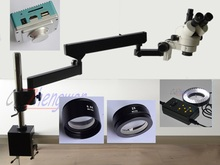 FYSCOPE 3.5X 90X ARTICULATING ARM กล้องจุลทรรศน์สเตอริโอซูม 4 ZONE 144LED + HDMI 1080P กล้อง 2.0M