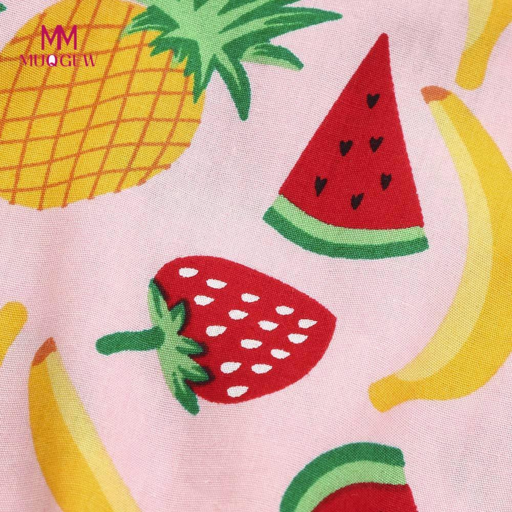4bd4e260e Baby Girls Dress 2Pcs Baby Sleeveless Fruit Pineapple Watermelon ...