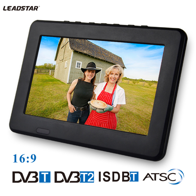 Leadstar 7 inch Portable Television Digital Or Analog DVB-T2 LED TV Video MP4 Player Mini car TV Support TF card USB Earphone
