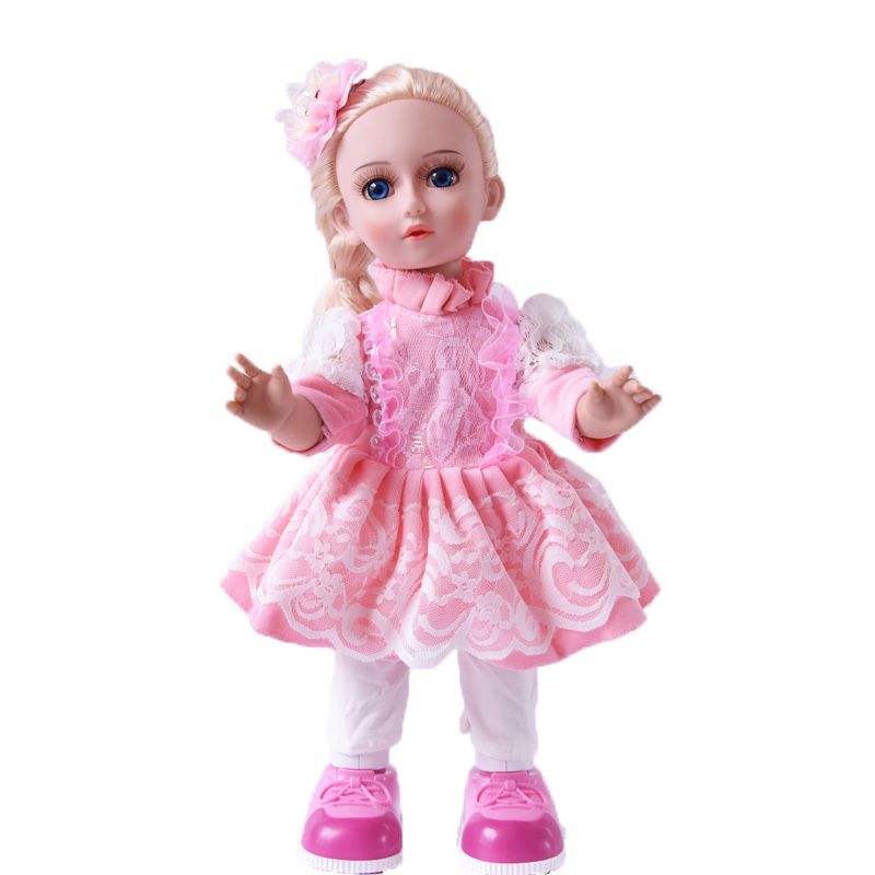 Princess Anna 16'' 42cm interactive smart doll talking dancing Russian speaking walking doll girl gift