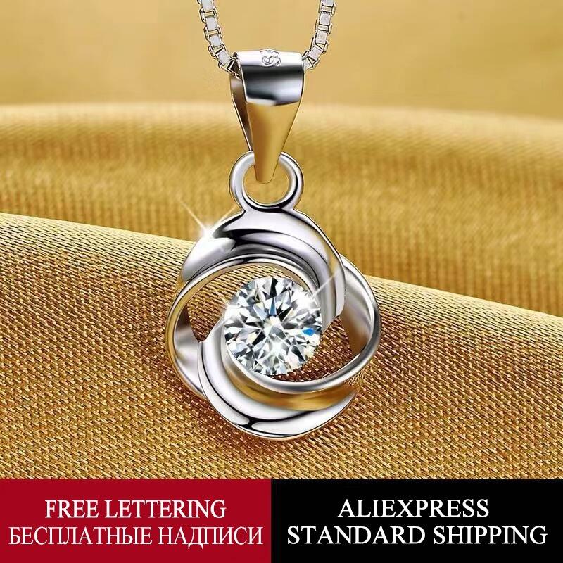 YACINTH 18 K or blanc Rose collier incrustation topaze pendentif boîte chaîne collier bijoux collier de mariage accessoires SCN030