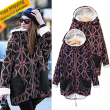 2016 New Winter Women Ladies Coat Thicken Woolen Mid-Long Cotton Padded Jacket Casual Style Sweater Warm Hot Sell