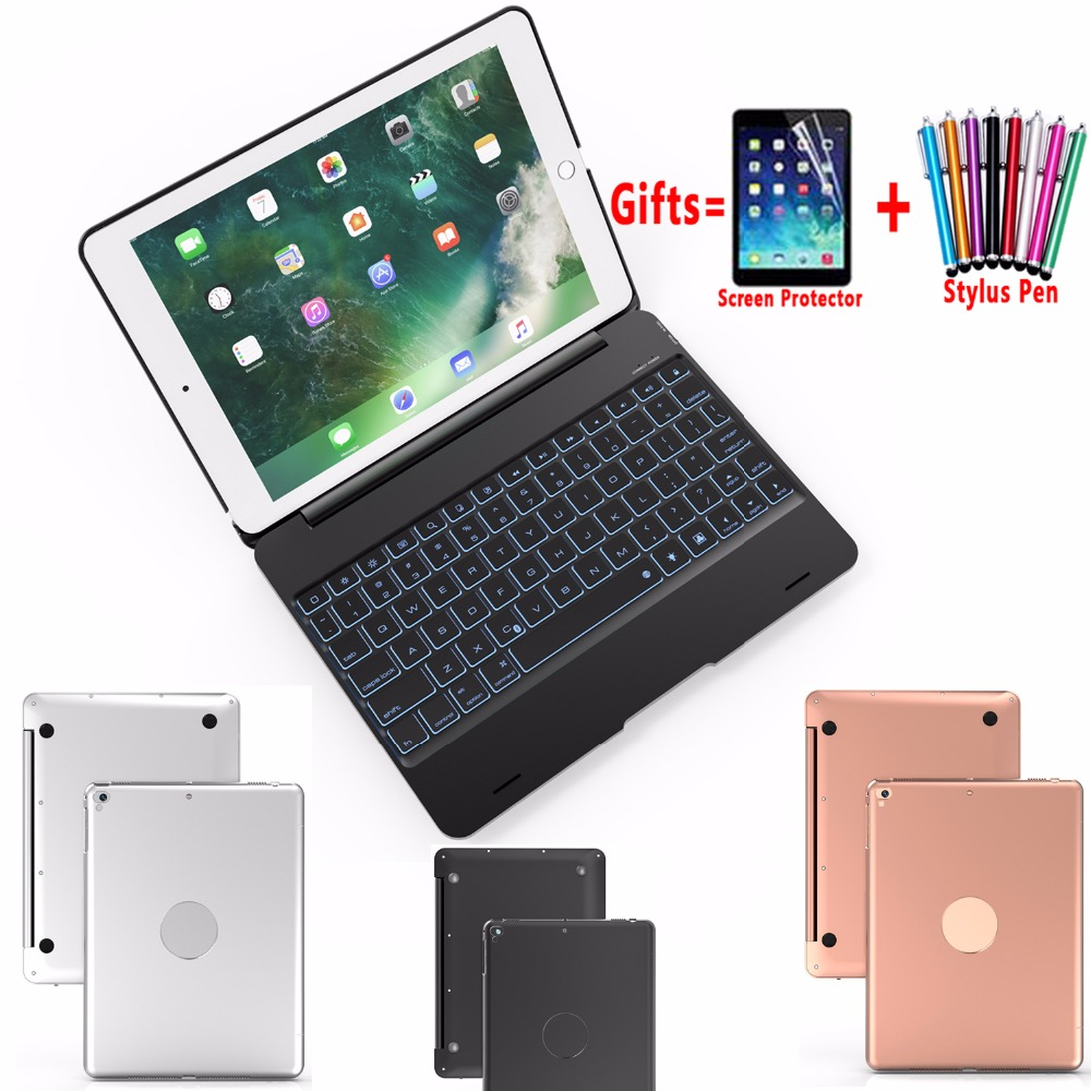 Flip Wireless Bluetooth Keyboard Case Cover for Apple iPad 9.7 2017 2018 A1822 A1823 A1893 A1854 for iPad Air 1 2 5 6 Pro 9.7 leather case flip cover for letv leeco le 2 le 2 pro black