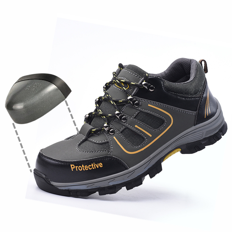 Work-Boots Safety-Shoes Toe-Steel Anti-Smashing-Work Mid-Plate Survival -Wl666 Wilderness