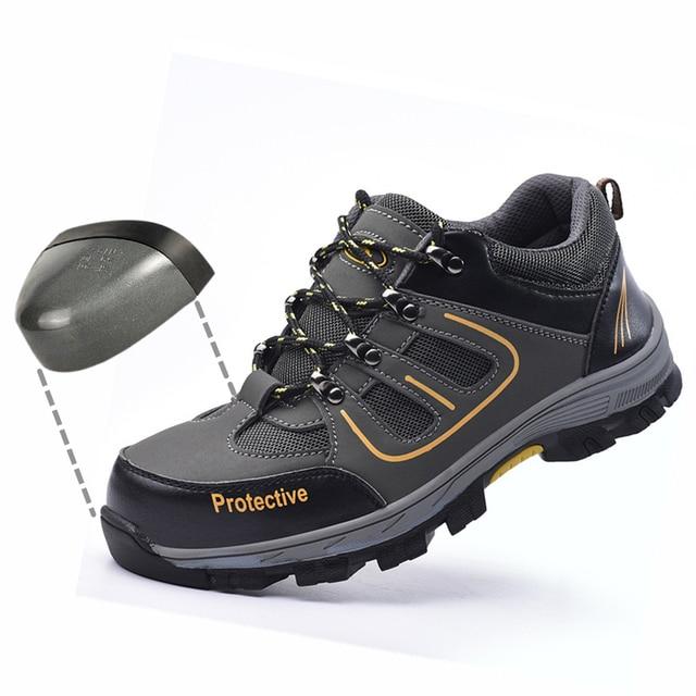 荒野サバイバル安全靴鋼つま先鋼プレートミッドプレート抗スリップ抗スマッシング作業男性作業ブーツ # WL666