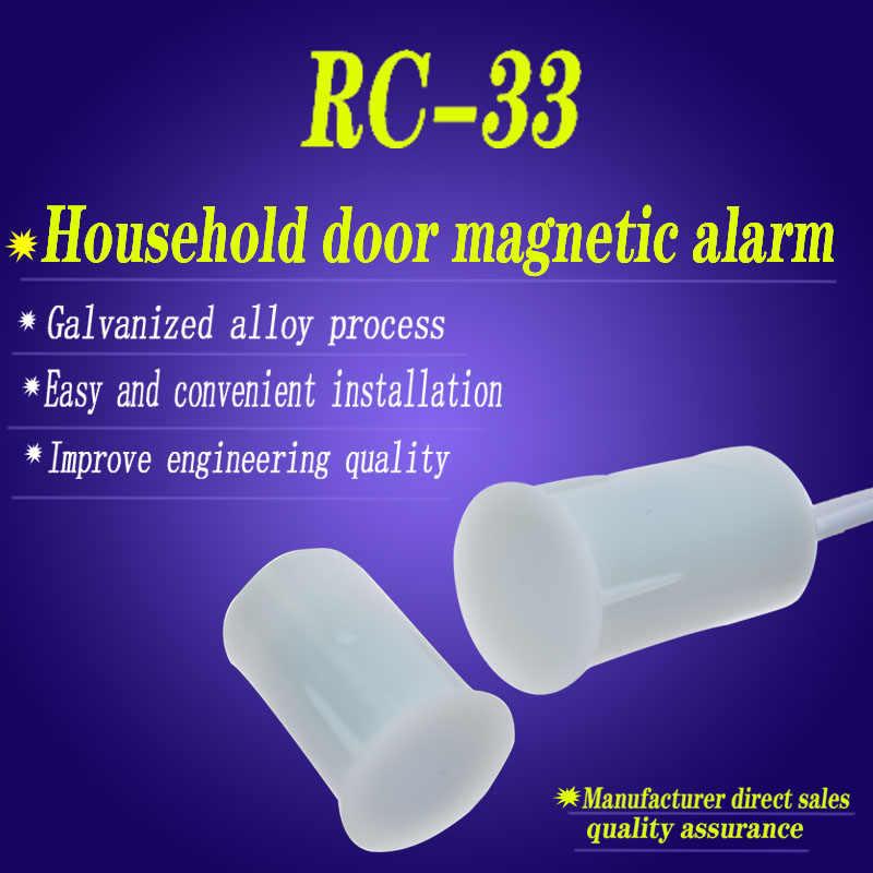RC-33 โคมไฟประตูสวิทช์แม่เหล็กแม่เหล็กประตูปลุก Detector Sensor Home Security Alarm DC 100V 300mA MC-33