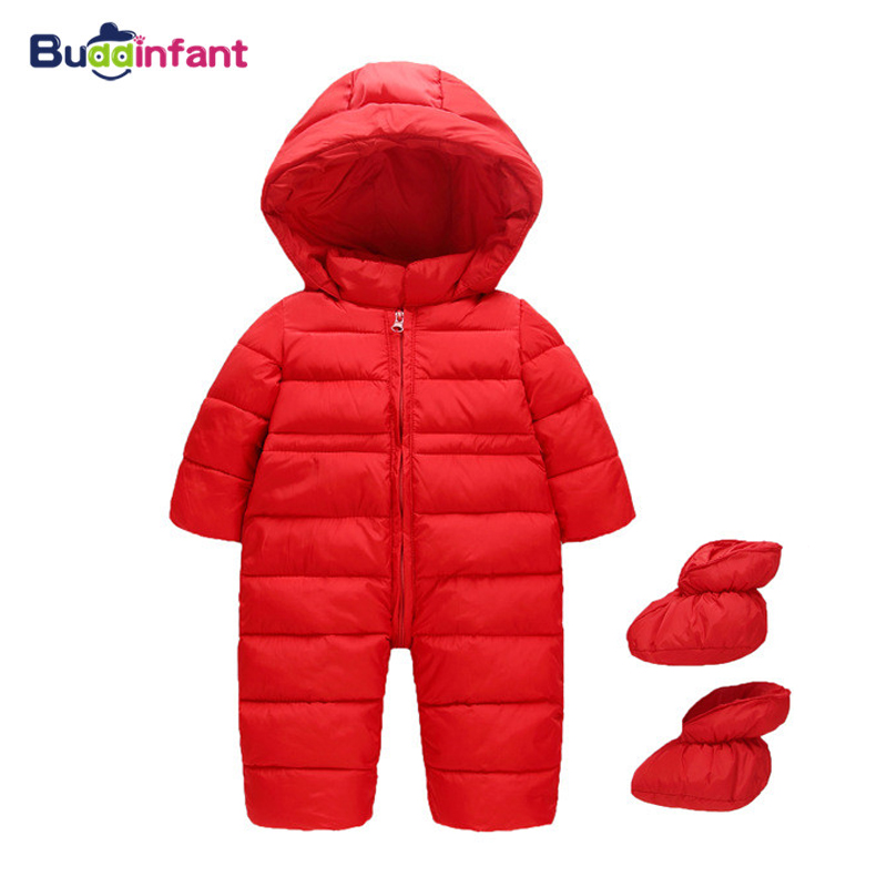 Baby Clothes 2018 New Winter Snowsuit Hooded Baby Thick Cotton Outfit Newborn Clothing For Children Baby Overalls Costume Coat