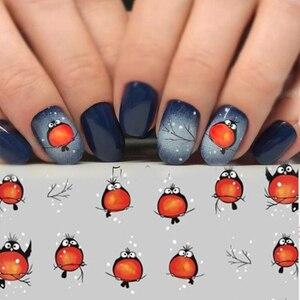 Image 1 - 손톱에 네일 스티커 손톱에 대한 만화 패턴 스티커 물 전송 스티커 데칼 매니큐어 장식 플라이 버드 네일 아트