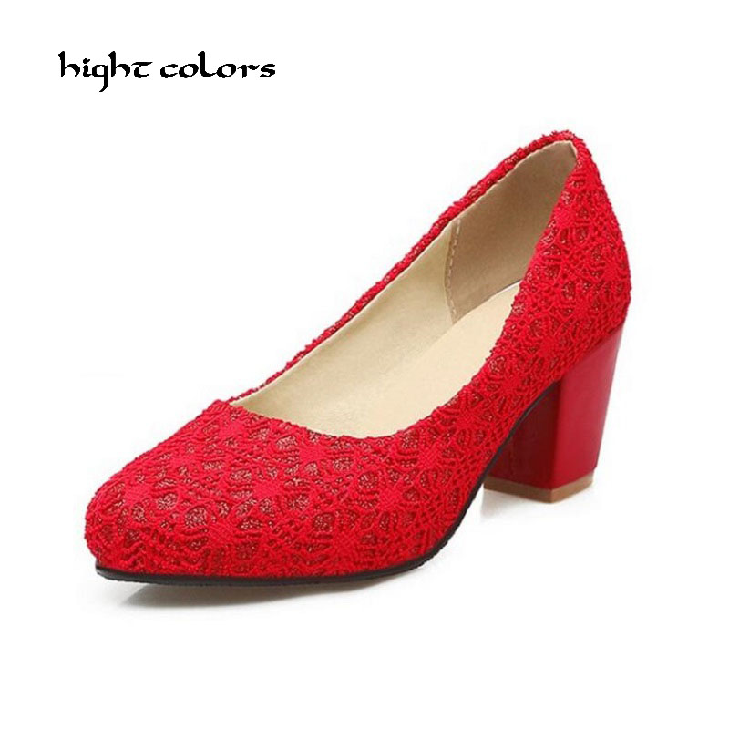 ( hight colors ) 32~45 Size Women Pumps Sexy Lace High Heels Ladies Fashion Brand Red Beige Black Wedding Platform Shoes HC2306 hot sale brand ladies pumps sexy women high heels platform sexy women high heel pumps wedding shoes free shipping 2888 1