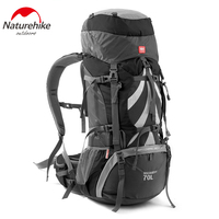 Naturehike outdoor big capacity 70L hiking backpack professional mountain bags internal frame rucksack for climbing camping